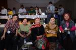 At GAF5, Lucknow, 2014: Amonrat Sermwatanakul (Thailand), Winarni Darmayanti (Indonesia), Indah Susilowati (Indonesia), Mayanggita Kirana (Indonesia), and Rashidah Shuib (Malaysia)