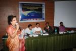 Dr Mukherjee presenting